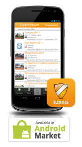 Toernooi.nl Android Tennis App